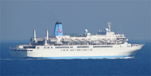 Thomson Spirit sails away